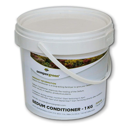 Sedum conditioner emmer onderhoud bemesting mest